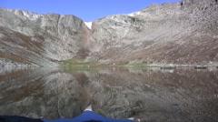 Epic Alpine Glacier Lake Reflection Stock Footage