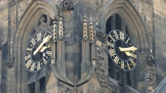 Clock on tower Stock Footage