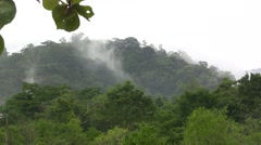 Overlooking the Rainy Mist in the Jungle Stock Footage