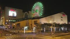 Miramar Ferris wheel at night - blinking lights Stock Footage