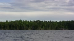 Fishing Boat Trolling Lake Stock Footage