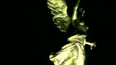 Angel de la Independencia monument in Mexico City Stock Footage