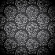 Black Damask Pattern Stock Illustration