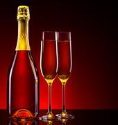 Luxury champagne background Stock Photos