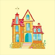 Beautiful mansion Stock Illustration