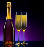 Stock Photo of luxury champagne background