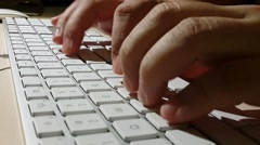 closeup view of person typing - stock footage