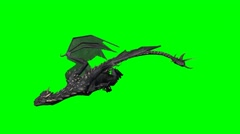 Dragon swims - 2 different green screen variants Stock Footage