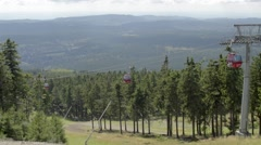 Cable Railway, Ropeway in Summer - Harz-Braunlage-Wurmberg Stock Footage