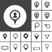 Map markers vector Stock Illustration