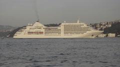 Luxury Cruise, liner, passenger ship crossing, nowhere voyage Arkistovideo