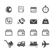 Stock Illustration of shipping and logistics icons