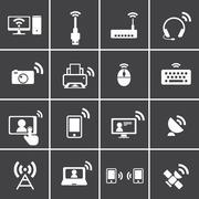 wireless & communication icon - stock illustration