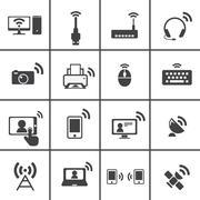 Wireless & communication icon Stock Illustration