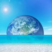 planet by the sea - stock photo