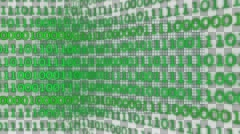 Binary Background (Green with Alpha) Stock Footage