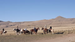cowboys and cowgirls - stock footage