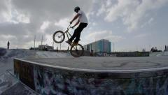 Ultra High Definition 4K - Extreme Sport - Manual to Barspin on a BMX Stock Footage
