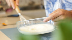 Whipping cream Stock Footage