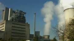 Lignite-fired power plant Frimmersdorf, Germany - stock footage