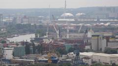 Moorburg New Coal Power Plant Shell Oil Refinery Oiltanking Hamburg Industrial - stock footage