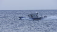 Stock Video Footage of police fast patrol boat slow motion