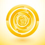 yellow circles rotate to lost - stock illustration