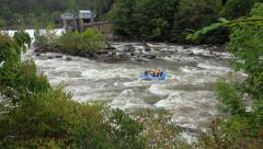 White water rafting rapids in Ocoee river Stock Footage