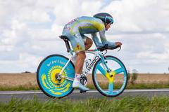 the kazak cyclist vinokourov alexandr - stock photo