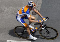 the dutch cyclist gesink robert - stock photo