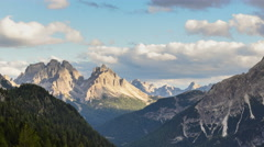 4k UHD time lapse highspeed dark clouds over dolomites 11554 Stock Footage