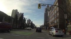 Driving tour POV hyperlapse - downtown to Kitsilano sunset Stock Footage