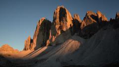 Sunset time lapse tre cime de lavaredo close 11555 Stock Footage