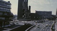 West Berlin 1976: Kurfürstendamm and Gedächtniskirche - stock footage