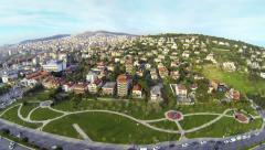 Luxury Istanbul houses from above on a sunny day Stock Footage
