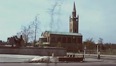 West Berlin 1976: St. Matthäus church am Kulturforum - stock footage