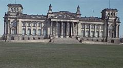 West Berlin 1976: Reichstag Stock Footage