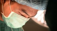 Close up shot of veterinarian surgeons Stock Footage