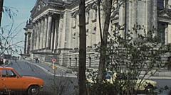 West Berlin 1976: Reichstag - stock footage