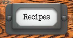 Recipes - Concept on Label Holder. Stock Illustration