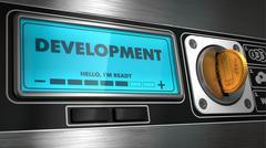 Development on Display of Vending Machine. - stock illustration