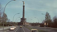 West Berlin 1976: Golden angel (Siegessaule) Stock Footage