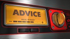 Advice on Display of Vending Machine. Stock Illustration