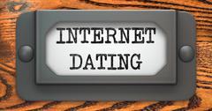 Internet Dating - Concept on Label Holder. Stock Illustration