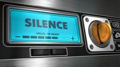 Silence on Display of Vending Machine. Piirros