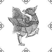 Thai tradition art,nok thet bird Stock Illustration