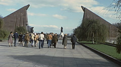 West Berlin 1976: Soviet War Memorial in Treptower Park Stock Footage