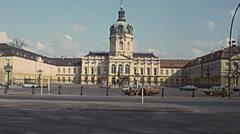 West Berlin 1976: Charlottenburg palace - stock footage