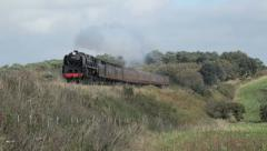 Steam Train on the North Norfolk Railway Stock Footage