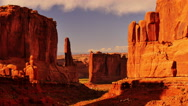 Stock Video Footage of 4K Arches Timelapse 03 Sunset at Park Avenue Courthouse Towers Utah USA
